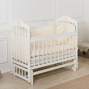Кровать детская Incanto PALI с мишкой (маятник, опуск.планка), цвет белый, Incanto